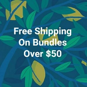 FREE SHIPPING on bundles over $50